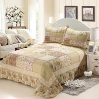 3 Pieces Pastoral Style Floral Printed Quilted Cotton ...