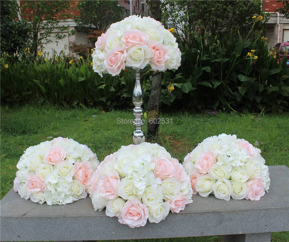 Spr Pink White Hot Sale 10pcslotwedding Table Flower Ball
