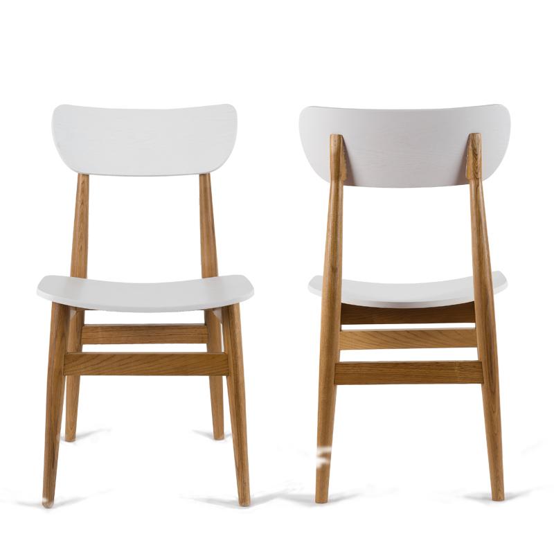 2x sedie moderne sedia da pranzo panca di legno sedia per