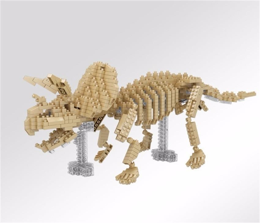 YZ Diamant Blöcke 3D skeleton Modell DIY Bausteine Dinosaurier ...