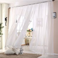 Wedding ceiling drapes White Sheer curtains Window ...