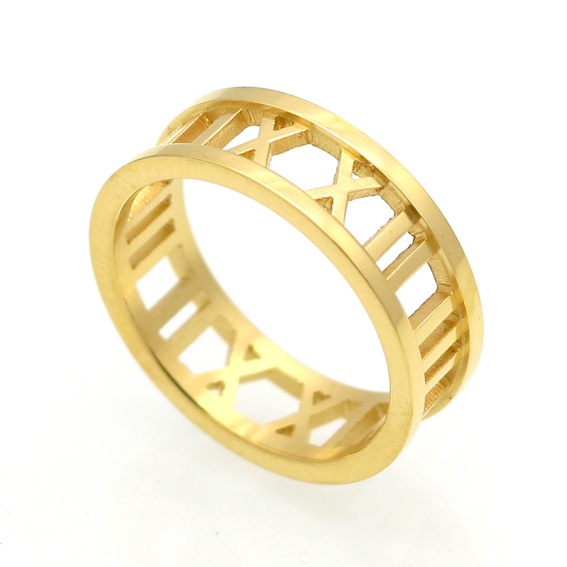 Hot Sale Fashion Female Number Ring Punk Couple Rings 18K