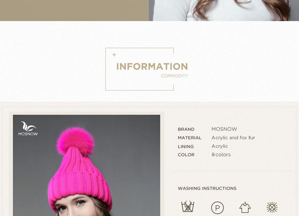 ộ_ộ ༽Mosnow moda invierno de las mujeres sombreros zorro Pieles de ...