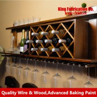 Wall mounted wine rack creative wood wine cabinets ...