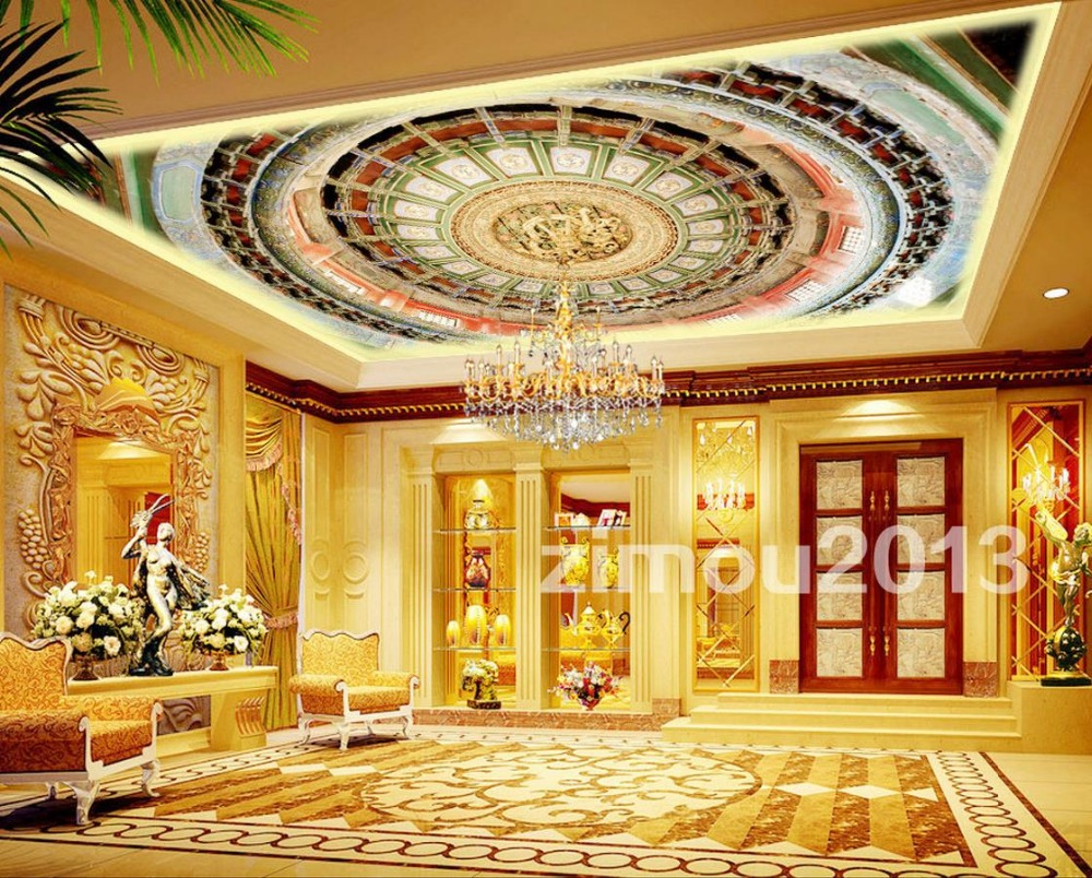 3D Wallpaper for Ceiling Mural