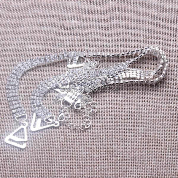 6aff202d33e3c Новые металлические плечевой ремень/горный хрусталь плечевой ремень/грудной  пояс/алмаз плечевой ремень/нижнее белье ремни