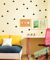Triangles Wall Sticker Kids Room wall decoration / Gold ...