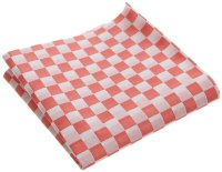 12''x12'' Red & white Checkered Wax Coated Paper BBQ Deli