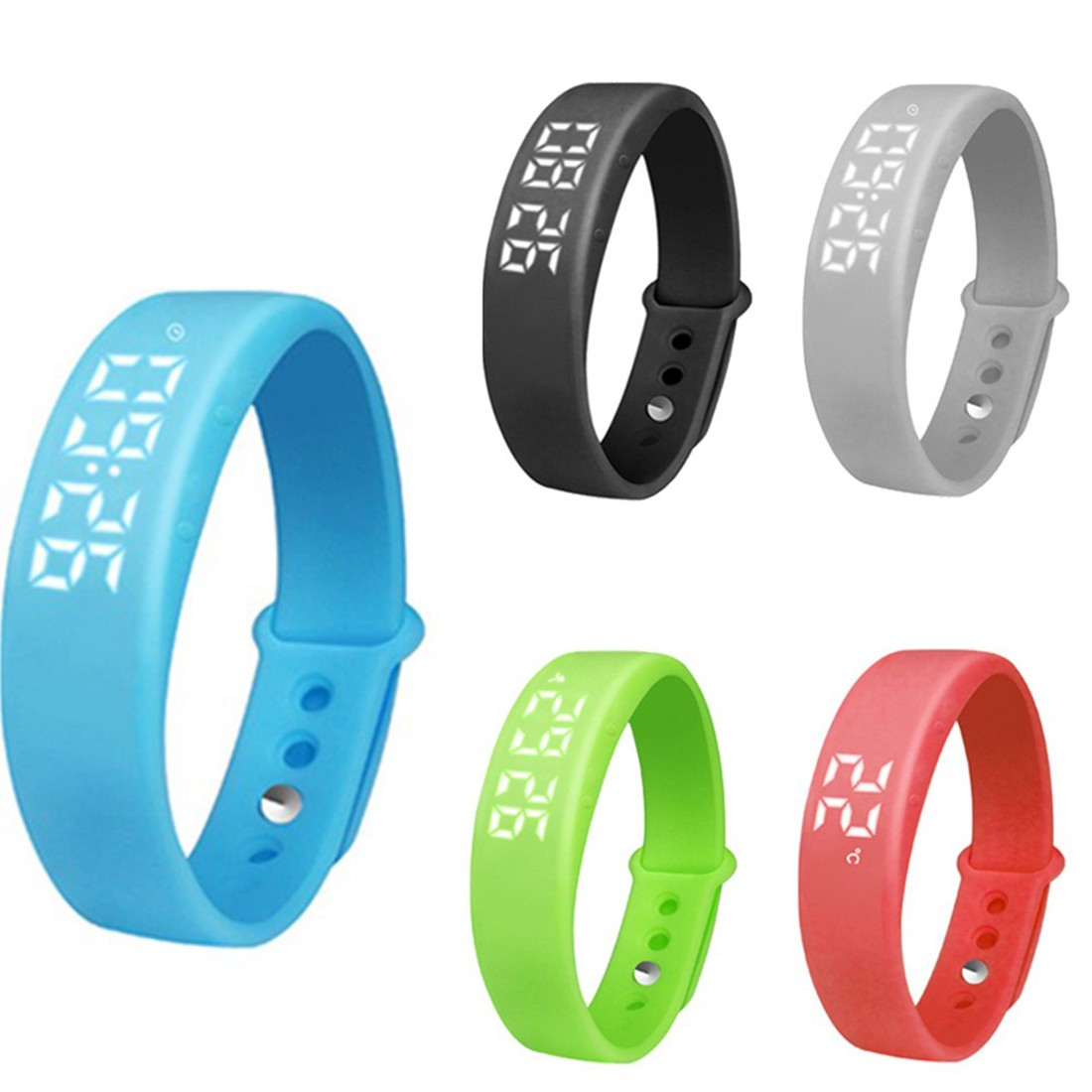 33fa4b2bdacf0 100% New Smart Wristband Bracelet Bracelet Fitness Pedometer Step Real Time  Temperature Display Sports Wristband For IOS Android