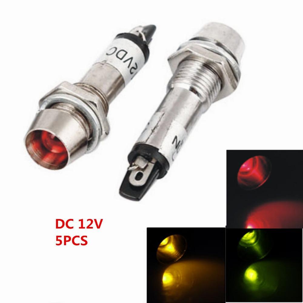 Pcs Electrical Circuit Green Red Yellow Led Signal Indicator Light