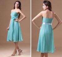 Cheap Custom Made Tea Length Bridesmaid Dresses Mint Green ...