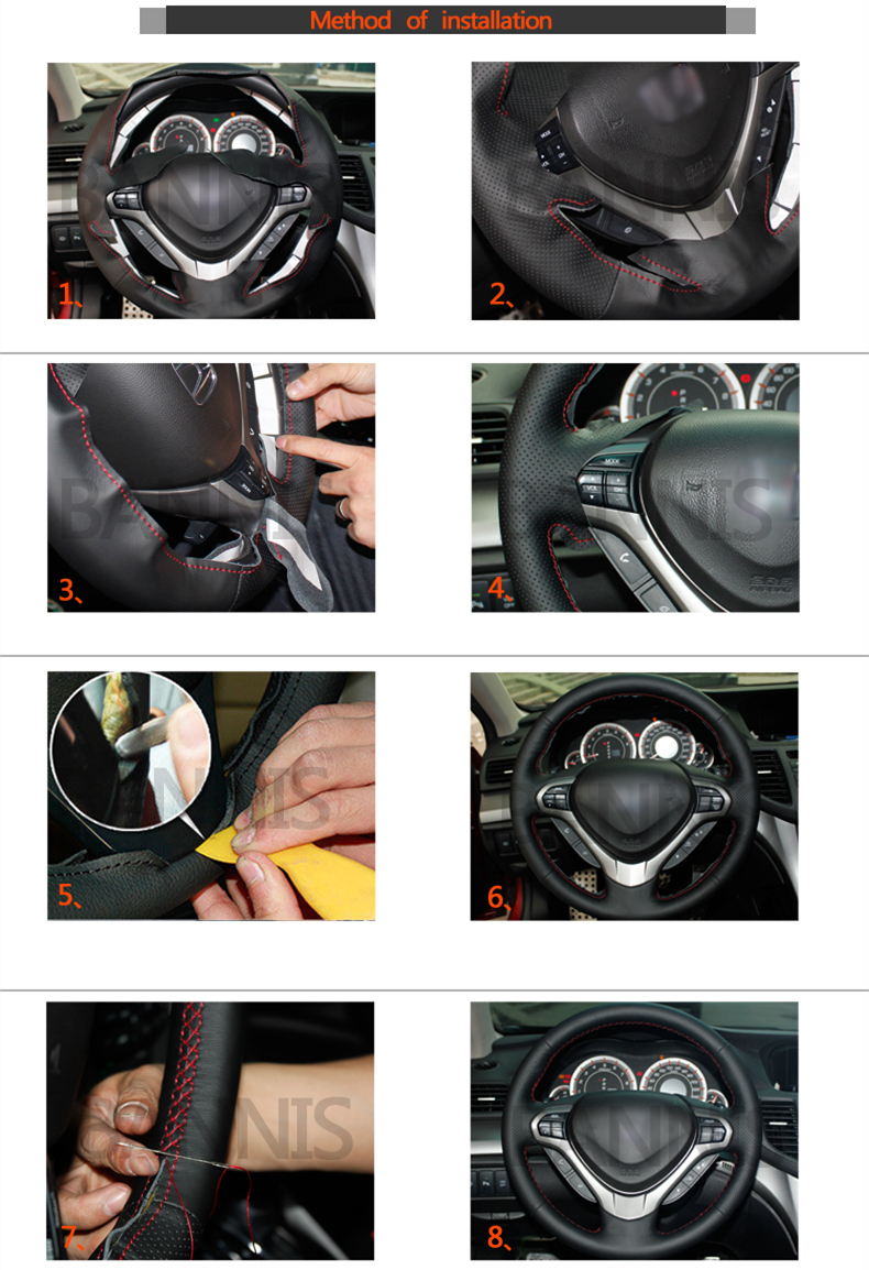 Auto Interior Accessories iTimo Car Steering Wheel Cover Elastic Knit Texture Artificial Leather