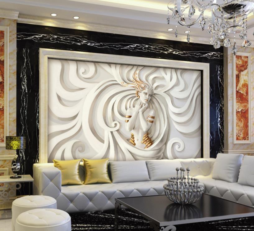 e2f1a2a63d2 3d обои картины Барельеф салон пользовательские 3D стереоскопического обои  фрески для гостиной спальня нетканые фрески