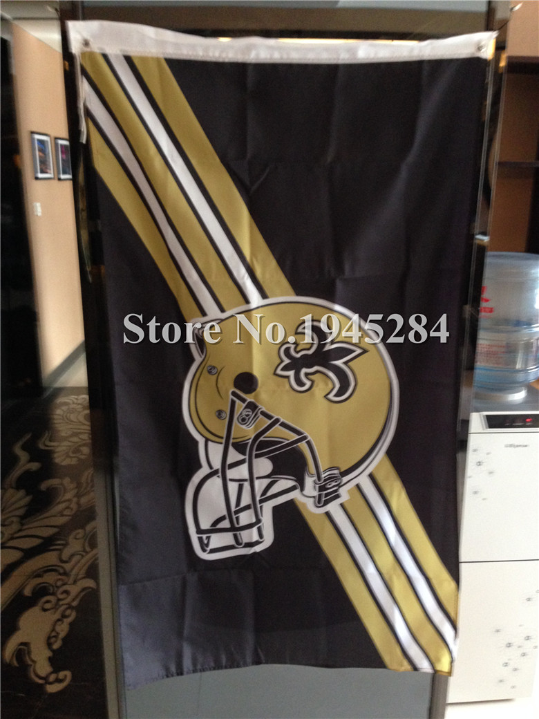 ᐃNFL New Orleans Saints bandera casco nuevo 3x5ft 90x150 cm bandera ...