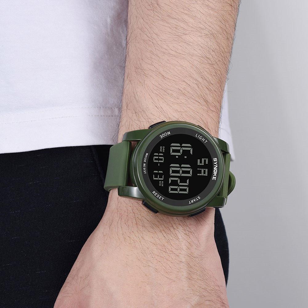 Synoke Männer Multi Funktion Militär Sport Uhr Led Digital Dual Bewegung Uhr Led Military Wasserdicht Männer Armbanduhren Digitale Uhren