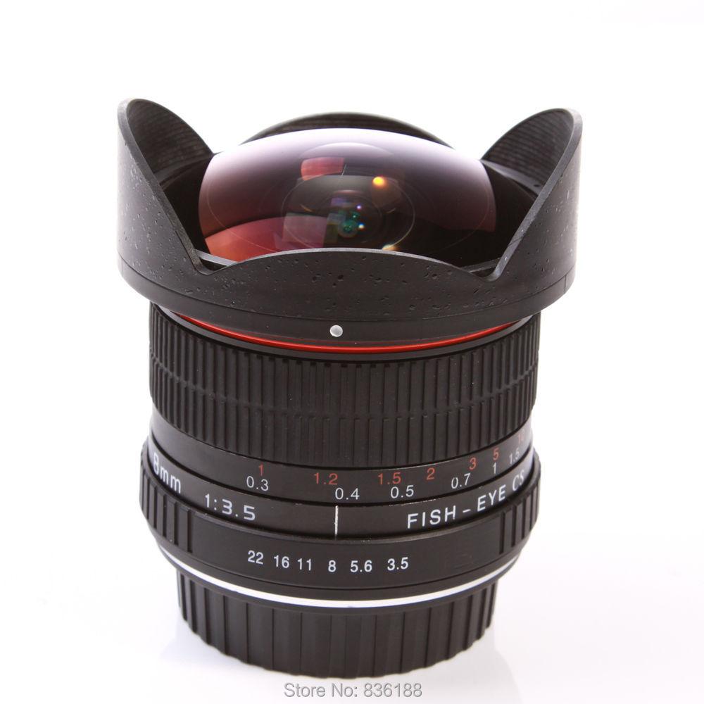 Jintu 8mm f/3.5 fisheye Fix ultra gran angular lente asférica para ...