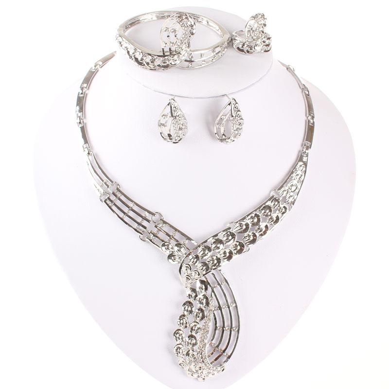 3Pcs//Set Nouveaux bijoux or jaune rempli Coeur Blanc Saphir Bague de Mariage Sz6-10