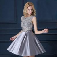 Aliexpress.com : Buy Custom Made Fashion Grey Satin Short ...