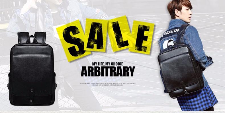 d73b6e14f2dd Мода краткий высокое качество из искусственной кожи рюкзак Для мужчин модные  Корейский стиль простой Повседневное сумка Для мужчин Мода пу.