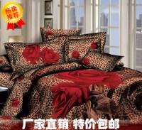 Aliexpress.com : Buy 3D Red rose Leopard print bedding ...