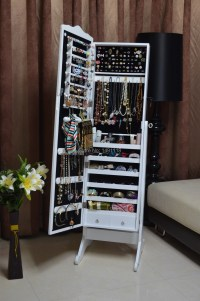 Color-Wooden-Jewelry-Armoire-Storage-Cabinet-living-room ...