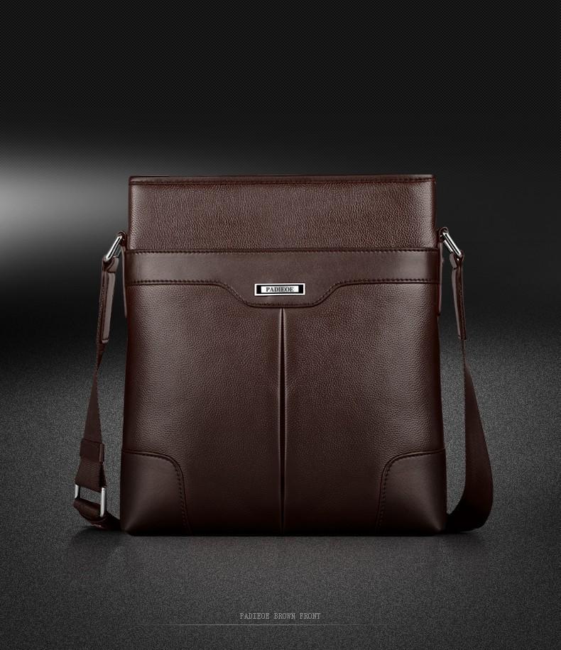 535e7b809021 Padieoe модные Для мужчин сумка Пояса из натуральной кожи Бизнес мужской  сумка бренд Для мужчин S Курьерские сумки
