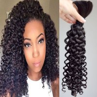 3 Pcs Brazilian Virgin Hair Curly Human Braiding Hair Bulk ...