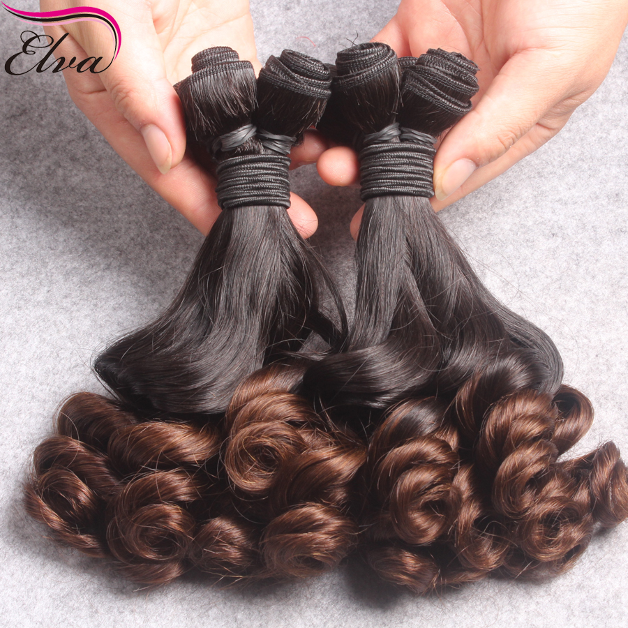 2016 Ombre Funmi Hair Brazilian Virgin Hair Spiral Loose