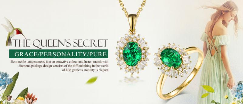 Novo!!! sólidos 18Kt Ouro Branco Natural Esmeralda Colombiana Ringd ... d3b4a83370