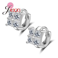 JEXXI New Fashion Beautiful Rhinestone Square Temperament ...
