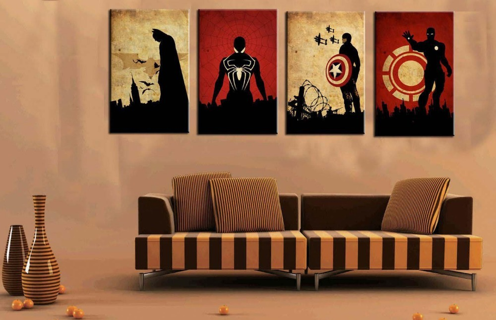 100% Hand Painted Canvas Oil Paintings For Living Room