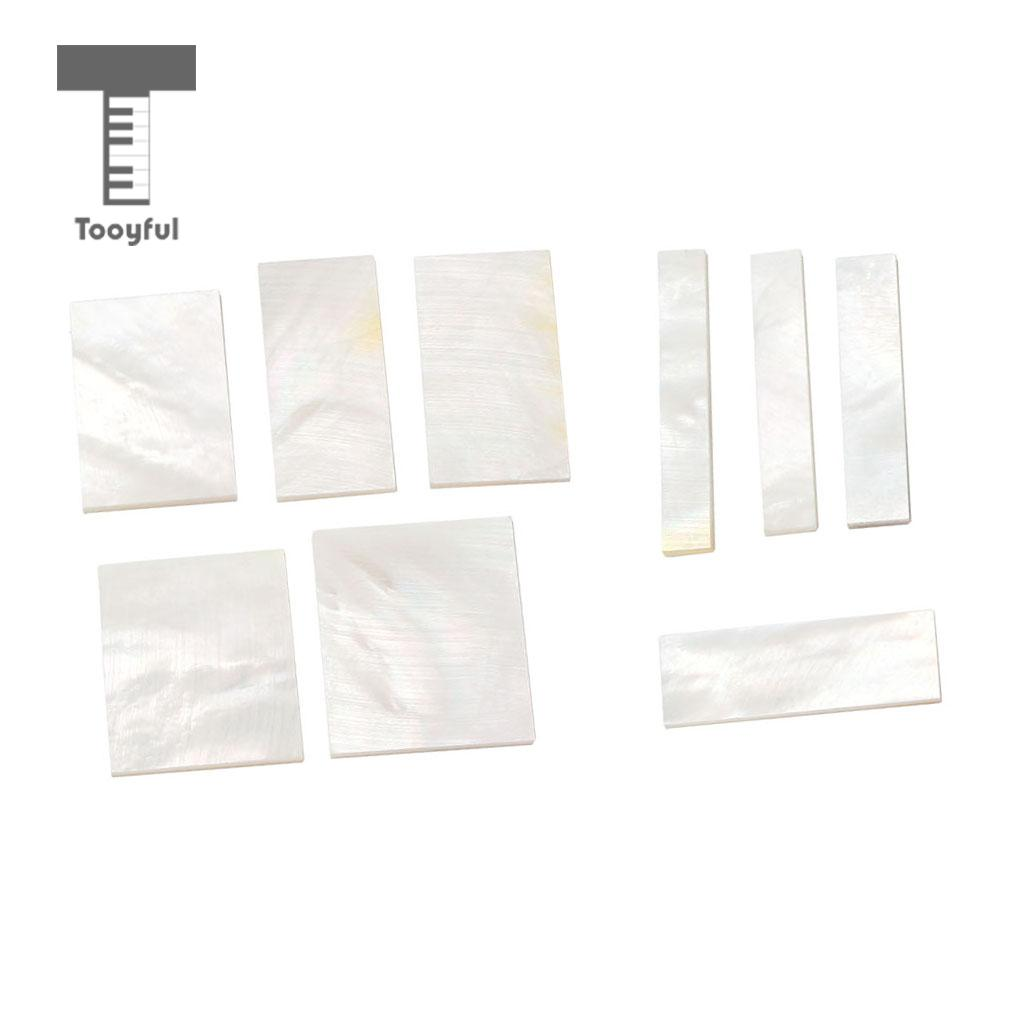 hight resolution of tooyful diy inlays material white shell block for guitar fingerboard fretboard neck