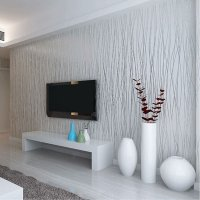 Non Woven Fashion Thin Flocking Vertical Stripes Wallpaper ...