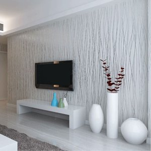 grey living silver sofa background flocking woven non wallpapers stripes vertical thin garden