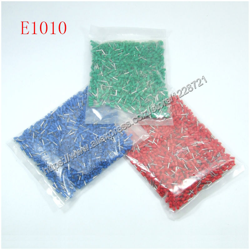 ღ Ƹ̵̡Ӝ̵̨̄Ʒ ღ1000pcs/pack E1010 cord end terminal PVC Insulated ...