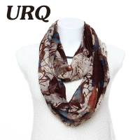Infinity scarves Punk Style New Ink Graffiti Print Ring ...