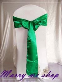 100 EMERALD GREEN Wedding Sashes For ChairsWedding Sashes ...