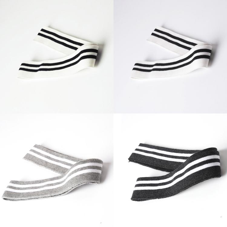 ᑐ2 unids 3.5*78 cm raya del algodón costilla de punto Recortes ...