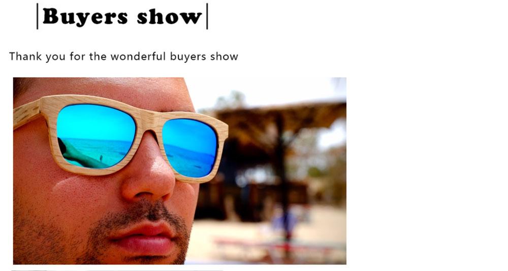 ②2015 Nouveau Mode Hommes Femmes lunettes de Soleil En Bois En Bois ... e61394e58e02