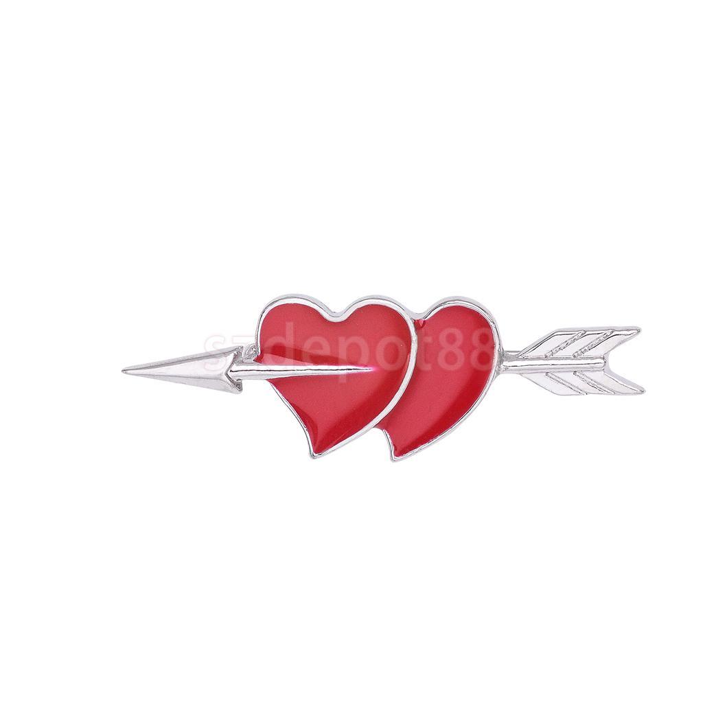 ᗜ LjഃRojo corazón forma de aleación broche Pasadores bufanda ...