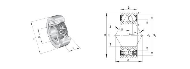 sourcing map 625 Plastique Roulements 5x16x5mm Bille Verre Nylon Cage 5Pcs