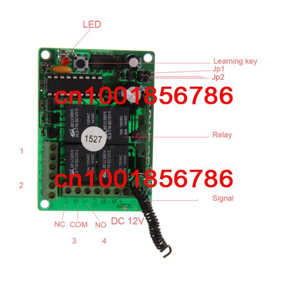 ộ ộ ༽Envío libre 12 V 4ch RF inalámbrico Control remoto interruptor ... 8c46aca6f8f
