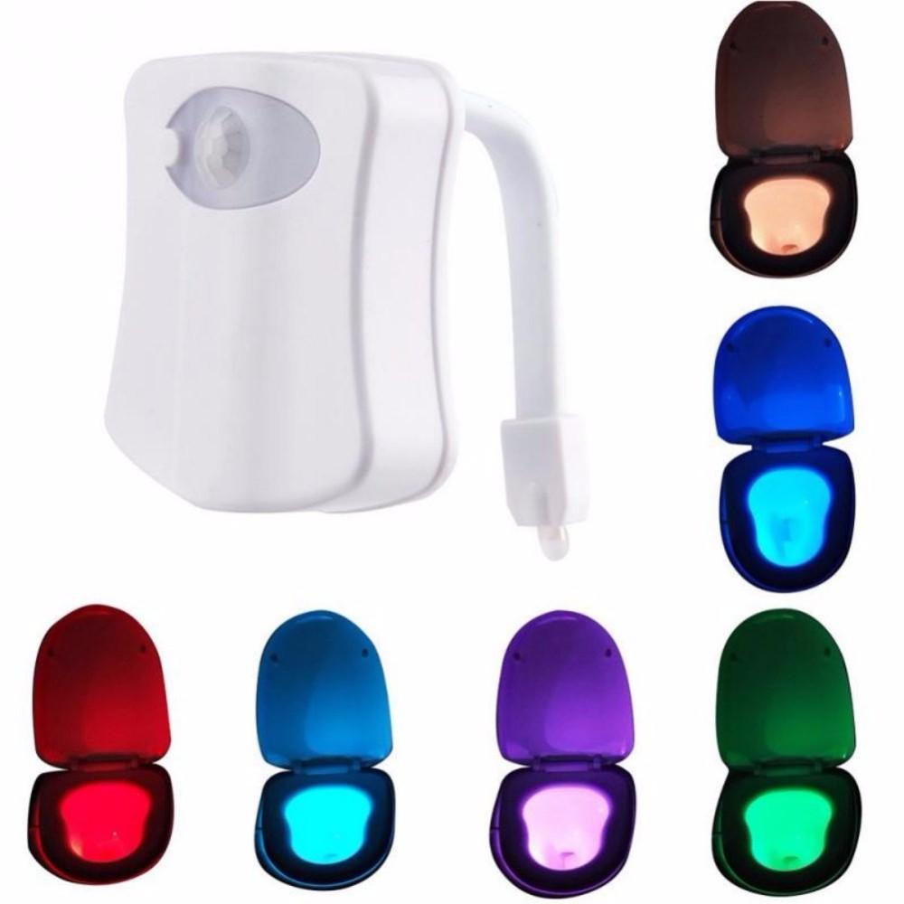 359bd7fd9da2f ②Banheiro LEVOU luz 8 Cores Assento de Toalete Noturna Sensível À ...