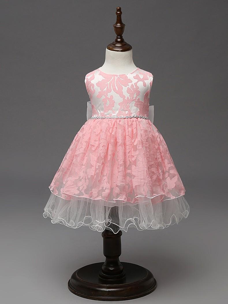 ⃝Niñas partido Vestidos diseño del vestido de los cabritos Encaje ...
