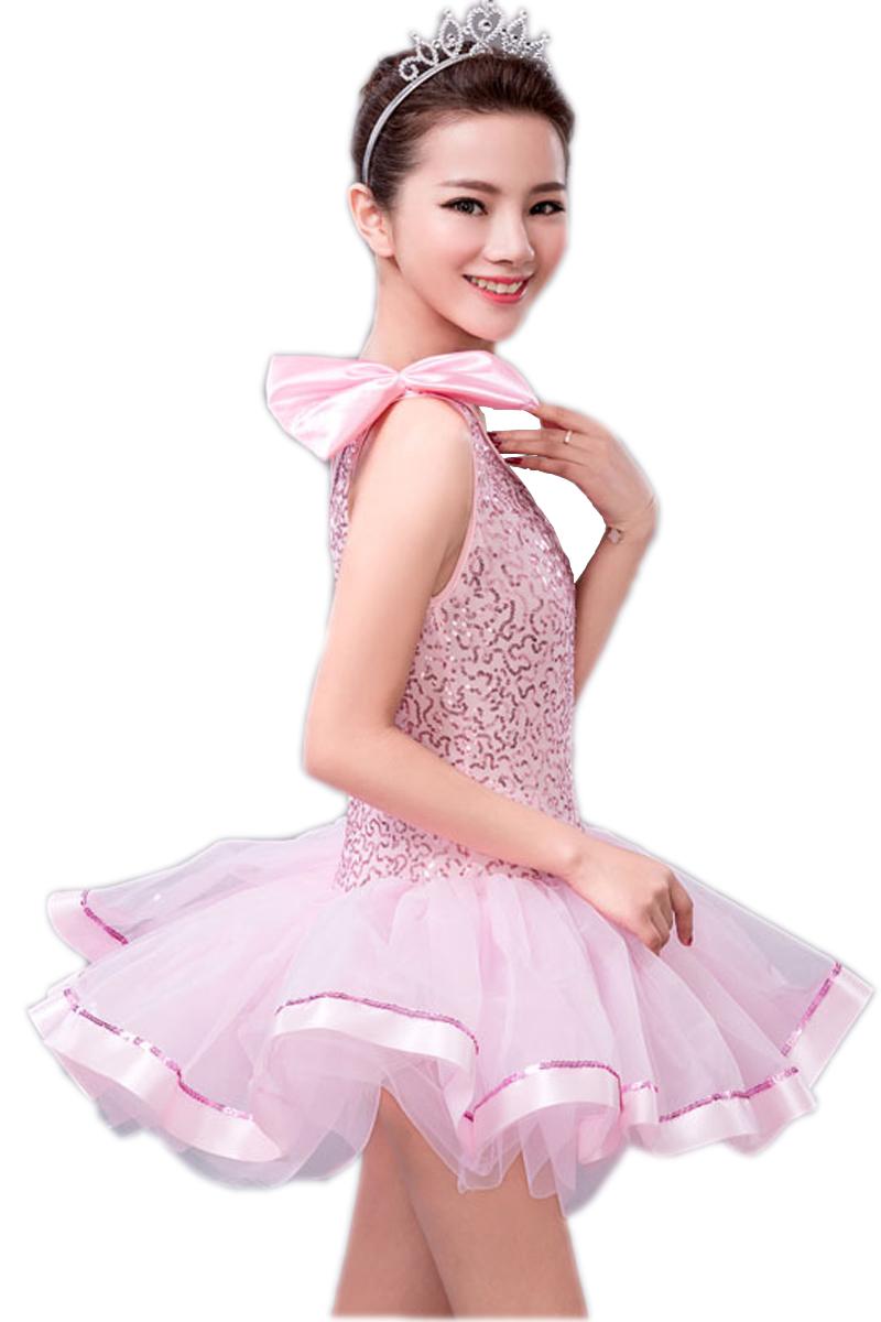 ̿̿̿(•̪ )Vestido azul rosado niños Ropa danza Ballet traje nieve ...