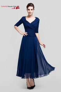Long Navy Blue Formal Mother of the Bride Dresses with ...