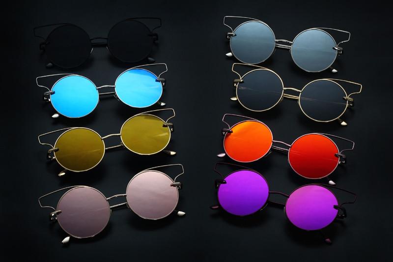 RunBird Occident Cat Eye lunettes de Soleil Femme Femmes Marque Designer  Lunettes de Soleil pour Femmes 2017 Style Oculos Gradient Lunette 010R 4fd58b75156d