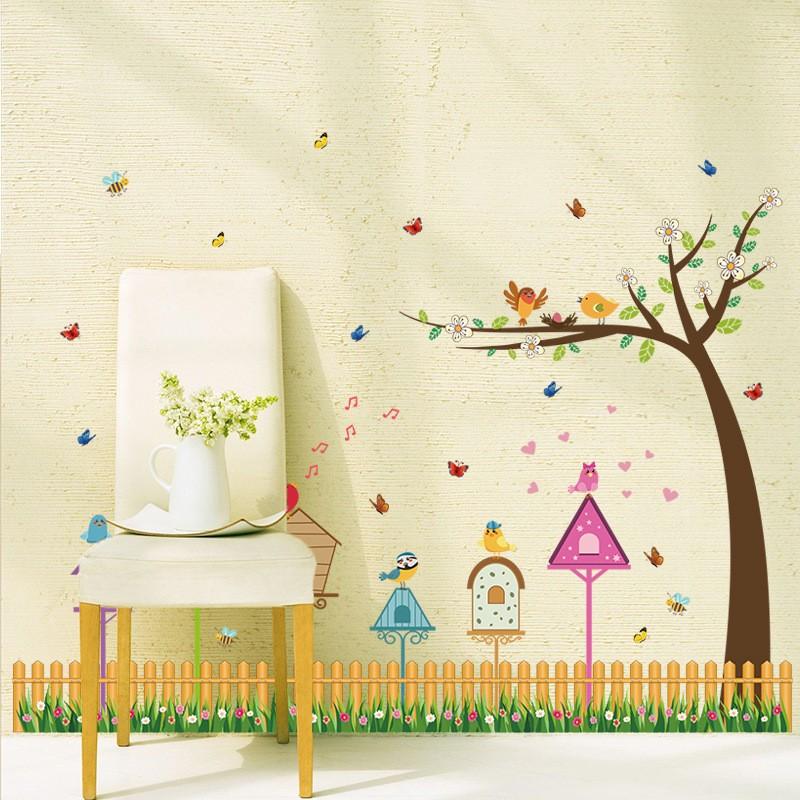 ᗗCartoon Decorative Wallpaper Stickers DIY Decals Glass Wall ...