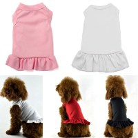 Pet Dress Plain Dog Shirt Girl Basic Dog Clothes for Cat ...