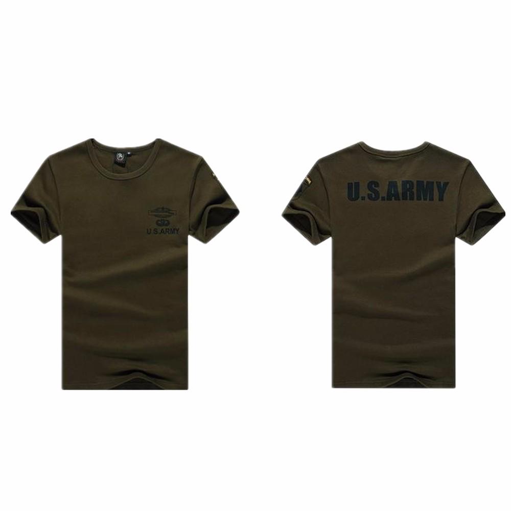 ed32f8c7a5 Deportes camiseta para hombres algodón corto fitness casual stretch Top  camiseta transpirable de secado rápido camiseta del combate táctico Militar
